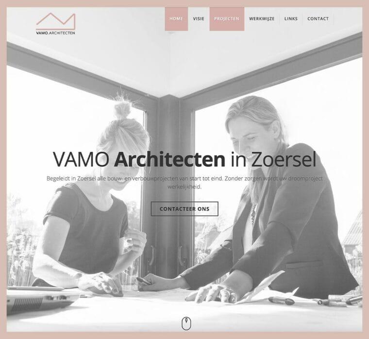 Vamo Architecten website