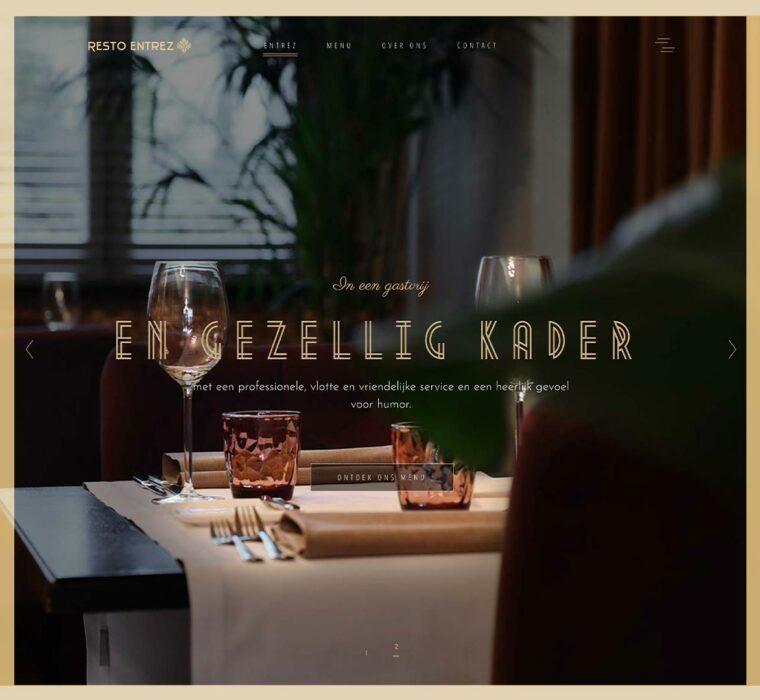 Restaurant Entrez website