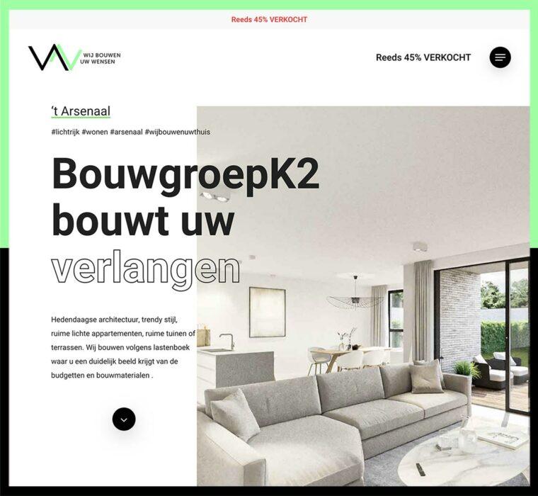 Wonen Arsenaal website